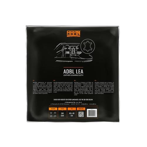 ADBL LEA 40x40 cm Mikrofibra do czyszczenia i pielęgnacji powierzchni skórzanych