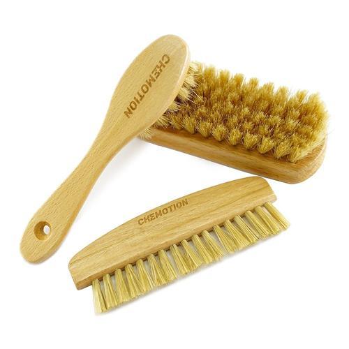 Chemotion Zestaw szczoteczek z naturalnym włosiem - do czyszczenia skóry