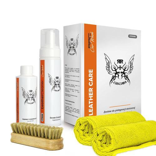 RRC Leather Cleaner Strong BOX Zestaw do czyszczenia skór
