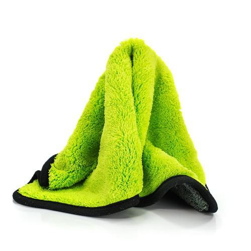 Mikrofibra/Ręcznik Ultra Plush Zielono-szara 40x40 cm 900 g/m2