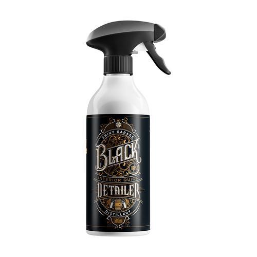 Shiny Garage Interior Quick Detailer 500ML Black Edition Rum Detailer do tworzyw wewnętrznych