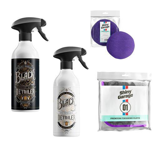 Shiny Garage Zestaw limitowany do lakieru i wnętrza | Zapach whisky i rumu! + aplikator i puszysta mikrofibra