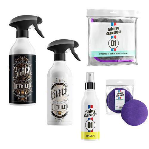Shiny Garage Zestaw limitowany do lakieru i wnętrza | Zapach whisky,rumu oraz jabłko z wanilią! + aplikator i puszysta mikrofibra