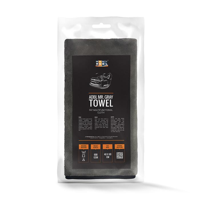 ADBL MR GRAY TOWEL Ręcznik do docierania powłok, tłustych wosków, past finishowych oraz inspekcji lakieru